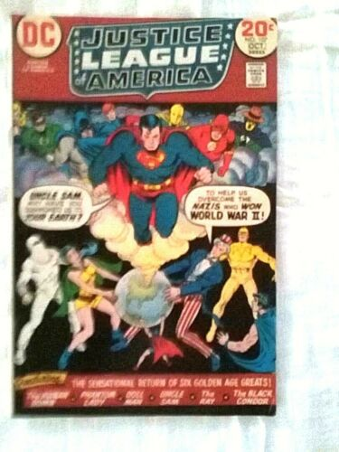 DC Comics GIANT JUSTICE LEAGUE AMERICA #107, Oct, 1973 vintage comic -