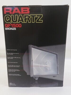 New RAB Lighting QF1500 Bronze Quartz Halogen Floodlight for sale  Shipping to United Kingdom