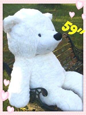 BIG HUGE PLUSH TEDDY BEAR 150CM BEST VALENTINES DAY GIFT WHITE CUDDLY SOFTEST  ](Huge Valentines Day Teddy Bear)