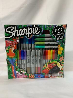Sharpie 40ct Limited Edition Metallic Colors Permanent Marker Kit Set