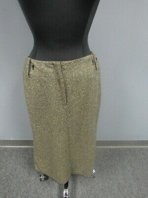 PER SE NWT Green Specked Wool Blend Lined Midi A Line Skirt Size 8 FF4342
