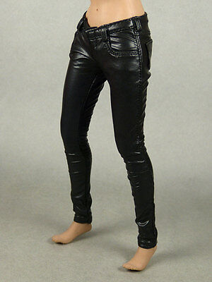 1 6 Phicen  Hot Toys  Play Toy  Magic Cube   Female Black Leather Tight Pants