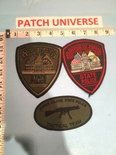 LOT OF 3 DIFF RHODE ISLAND STATE POLICE  SHOULDER PATCHES   E123