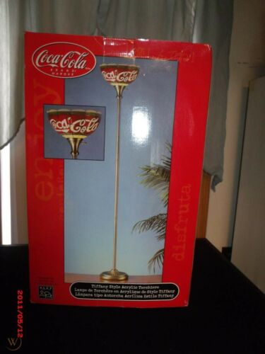 tiffany style acrylic torchiere coca cola lamp