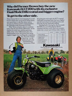 1980 Kawasaki KLT200 3-Wheeler ATV vintage print Ad