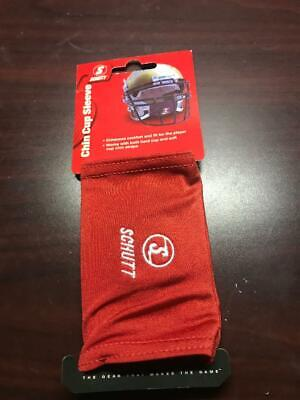 Schutt Chin Cup Pad Sleeve Cover Football,Red NEW Chin Cup Sleeve