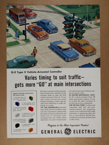 1956 GE General Electric Vehicle-Actuated Traffic Controller vintage print Ad