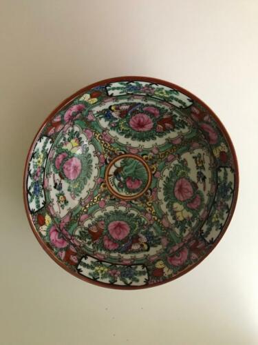 "Rose Medallion ACF Japanese 8"" Porcelain Bowl - Very Nice!"