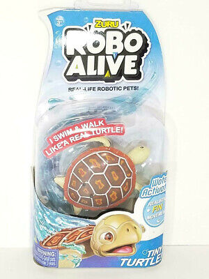 ZURU Robo Alive Water Activated RED WOOD TURTLE Real-Life Robotic Pets! *NEW* B1