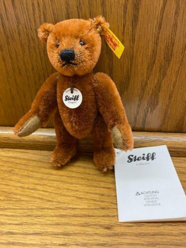5 Inch Steiff Russet Mohair Mini Teddy Bear