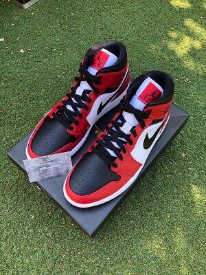 Nike Jordan 1 Mid Chicago Toe UK10