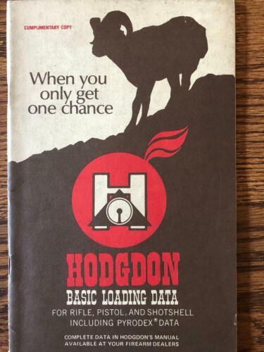 HODGDON POWDERS RELOADING MANUAL FOURTH PRINTING