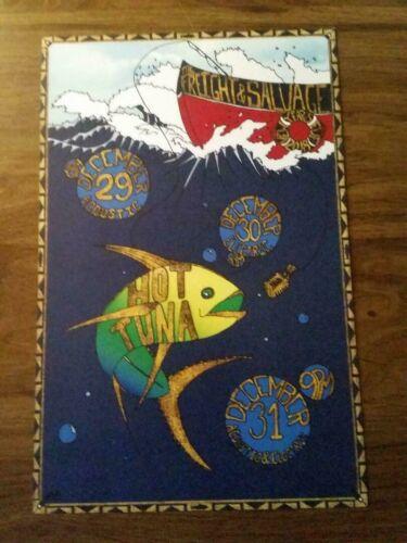 Hot Tuna NYE Poster Berkeley,Ca Dec 2018 Jefferson Airplane Starship