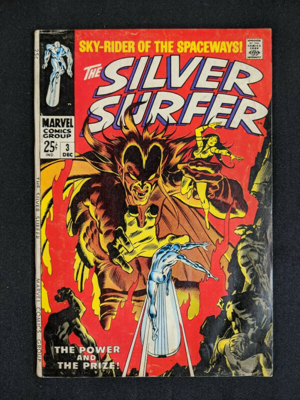 Silver Surfer #3, First Appearance of Mephisto (Marvel December 1968) (2)