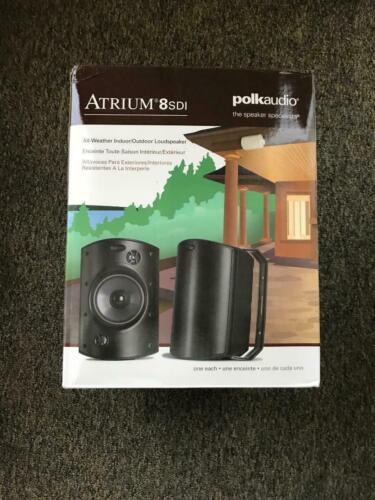 Polk Audio Atrium 8 SDI White Outdoor Speaker Each Brand New with Free Shipping!