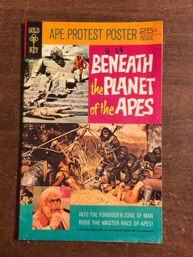 Beneath The Planet Of The Apes Gold Key with Poster attached 1970 Movie Comic