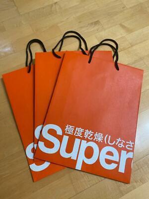 Brand New Superdry Medium Size Orange Paper Shopping Bag x 3