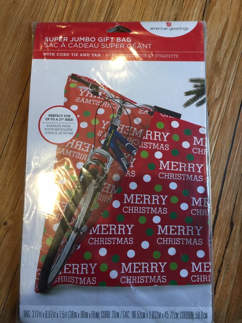 American Greetings Merry Christmas Jumbo Plastic Gift Bag, 3