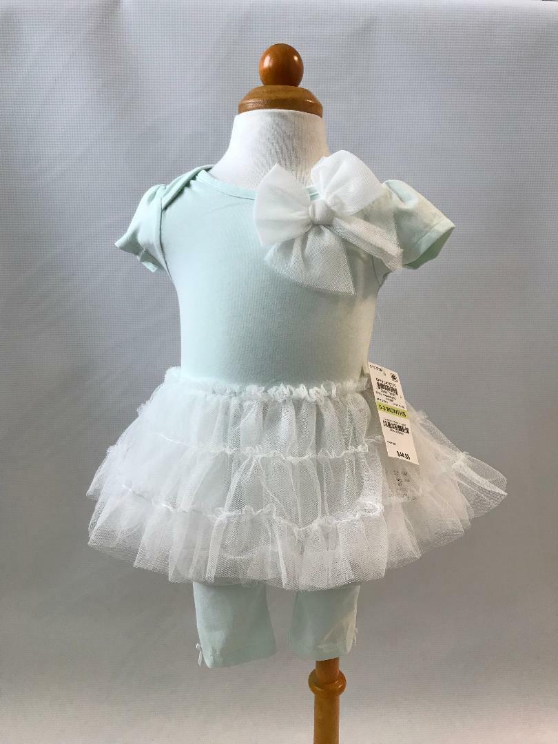 First Impressions baby girls 2 pc mint layette set size Newb