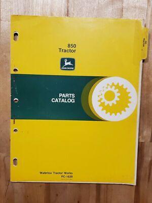 John Deere Parts Catalog Manual Pc - 1639 850 Tractor