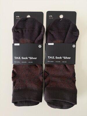 2 x NWT LULULEMON SQUO/MGMA Brown Burgundy LTWT T.H.E. Socks