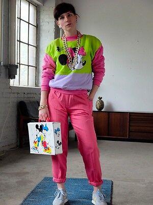 Quintett-Moden DDR Hose pants pink Taillenhose 80er True VINTAGE 80´s  Gr 164 XS