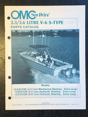 1985 OMC SEA DRIVE 2.5 / 2.6 LITRE V-6 S-TYPE PARTS MANUAL #984112