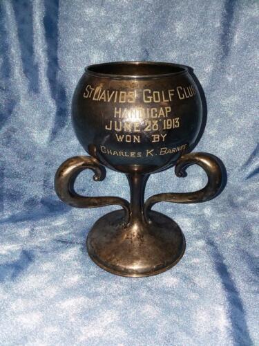 BEAUTIFUL  3 Handle 1913 GOLF TROPHY Saint Davids Golf Club  St. Davids