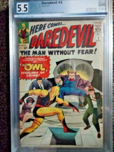 Daredevil #3 graded 5.5 1st Owl
