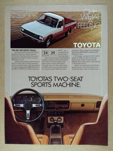 1981 Toyota SR5 Sport Pickup Truck vintage print Ad