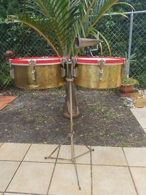 Timbales Leedy Brass Vintage -
