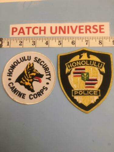 LOT OF 2 DIFF HONOLULU  HAWAII  SHOULDER PATCHES    A013