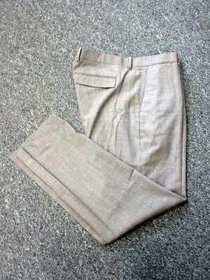THEORY Brown Gray Wool Flat Zip Front Flap Pockets Casual Pants Sz 36 DD2440
