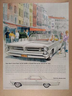 1963 Pontiac Grand Prix car illustration art vintage print Ad