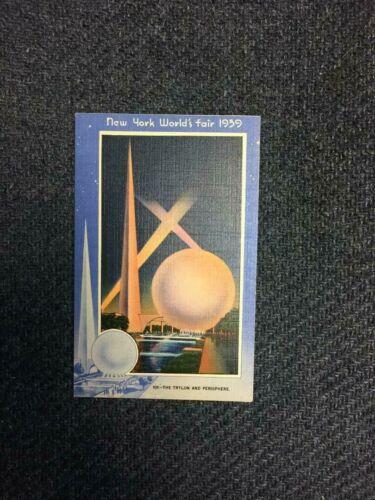 1939 Worlds Fair Post Card # 101 Trylon and Perisphere