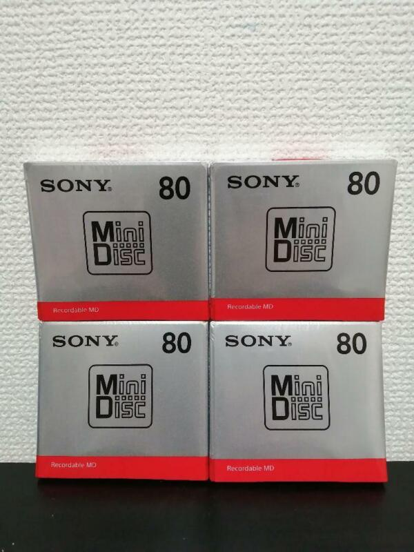 Sony MD Minidisc 80 Minutes Recordable Blank Media Mini MDW80T JAPAN NEW Lot 4