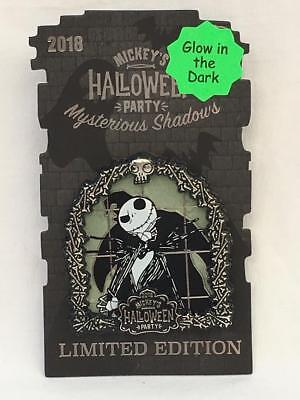 Disneyland Mickey's Halloween Party 2018 AP Pin Jack Skellington LE 5000