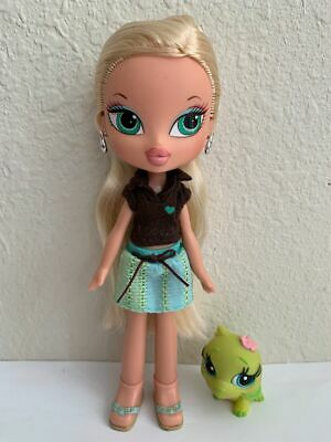 Girlz Girl Bratz Kidz Cloe Doll Blonde Hair Green Eyes Original Clothes Shoes