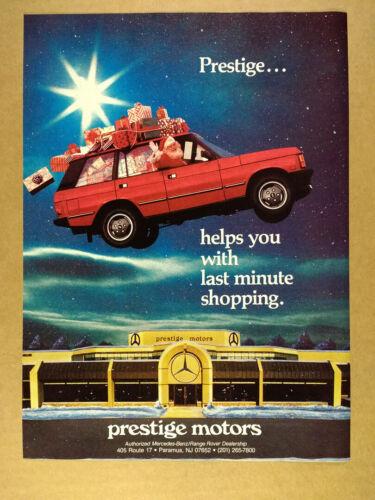 1988 Range Rover Classic santa photo Prestige Motors Paramus NJ vintage print Ad