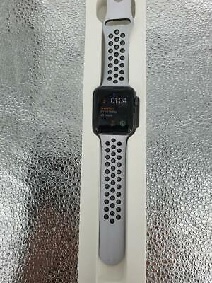 Apple iWatch series 2 MP072B/A 42mm space grey with white/black Nike strap