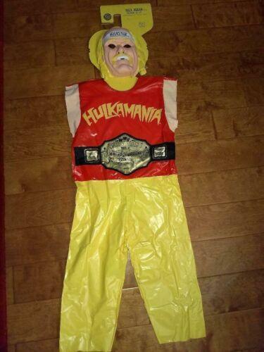 """Ben Cooper 1985 Halloween Costume Hulk Hogan Medium M Med 47-52""""Tall,8-10 Y.O."""