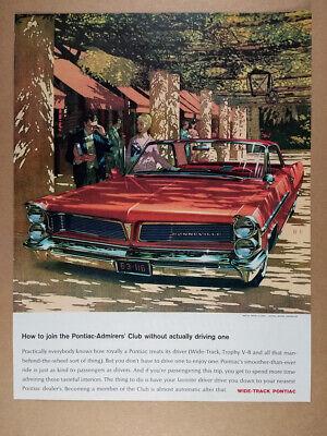 1963 Pontiac Bonneville 2-door Hardtop illustration art vintage print Ad