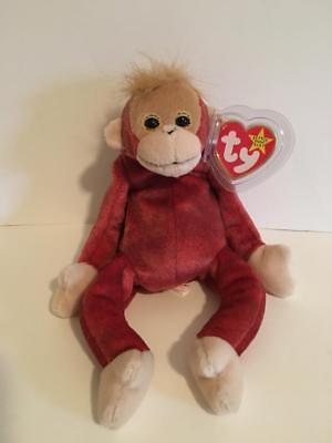 0dc54935e76 NWT TY BEANIE BABIES ORIGINAL BABY SCHWEETHEART MONKEY ORANGUTAN BEANBAG  PLUSH