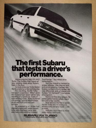 1985 Subaru RX Turbo 4WD vintage print Ad