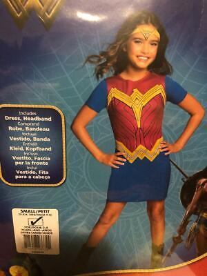 Wonder Woman Costume - Rubies Small size 4-6 , Kids Children, NEW