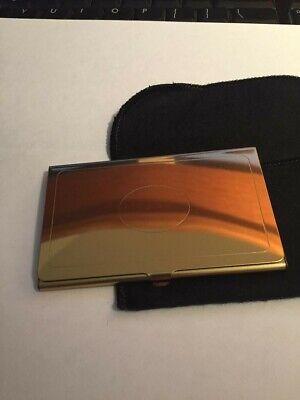 Vintage Polished Brass Business Card Case Holder - New Old Stock - Engravable
