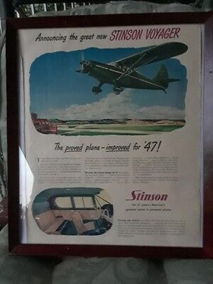 Airplane Ad, 1947 Stinson Voyager, American made