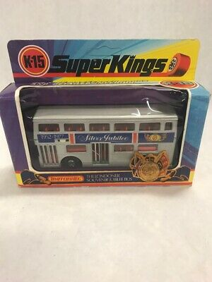 Matchbox K-15 Super Kings die cast cars Models box Vintage  The Londoner Bus