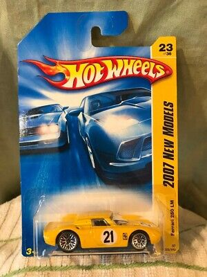 1/64 Hot Wheels 2007 New Models Ferrari 250 LM #23 Yellow Chrome Wire Wheels