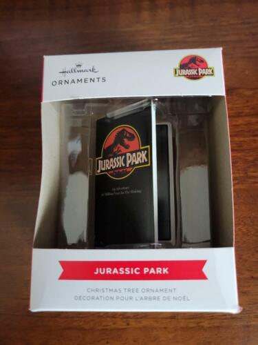 MIB Hallmark 2021 JURASSIC PARK VHS TAPE RED BOX Ornament - FREE SHIPPING